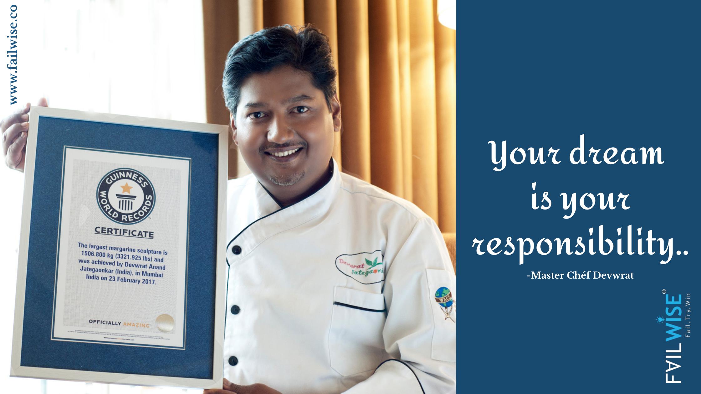 Margarine Marvels: Meet Chef Devwrat Jategaonkar a Guinness Book of World Record Holder for his Margarine Sculptures