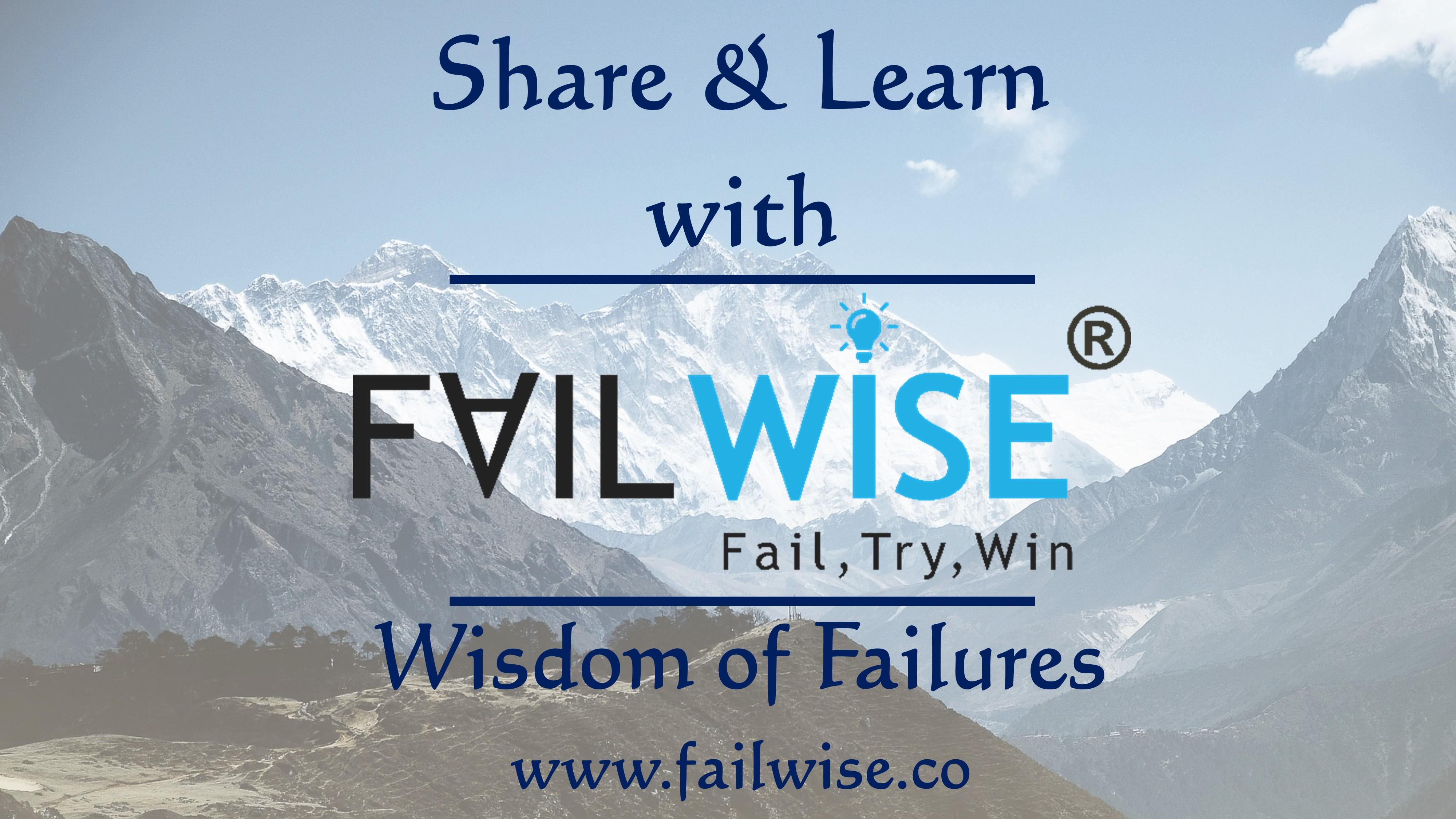 FailWise A new social blogging platform by Scipreneur